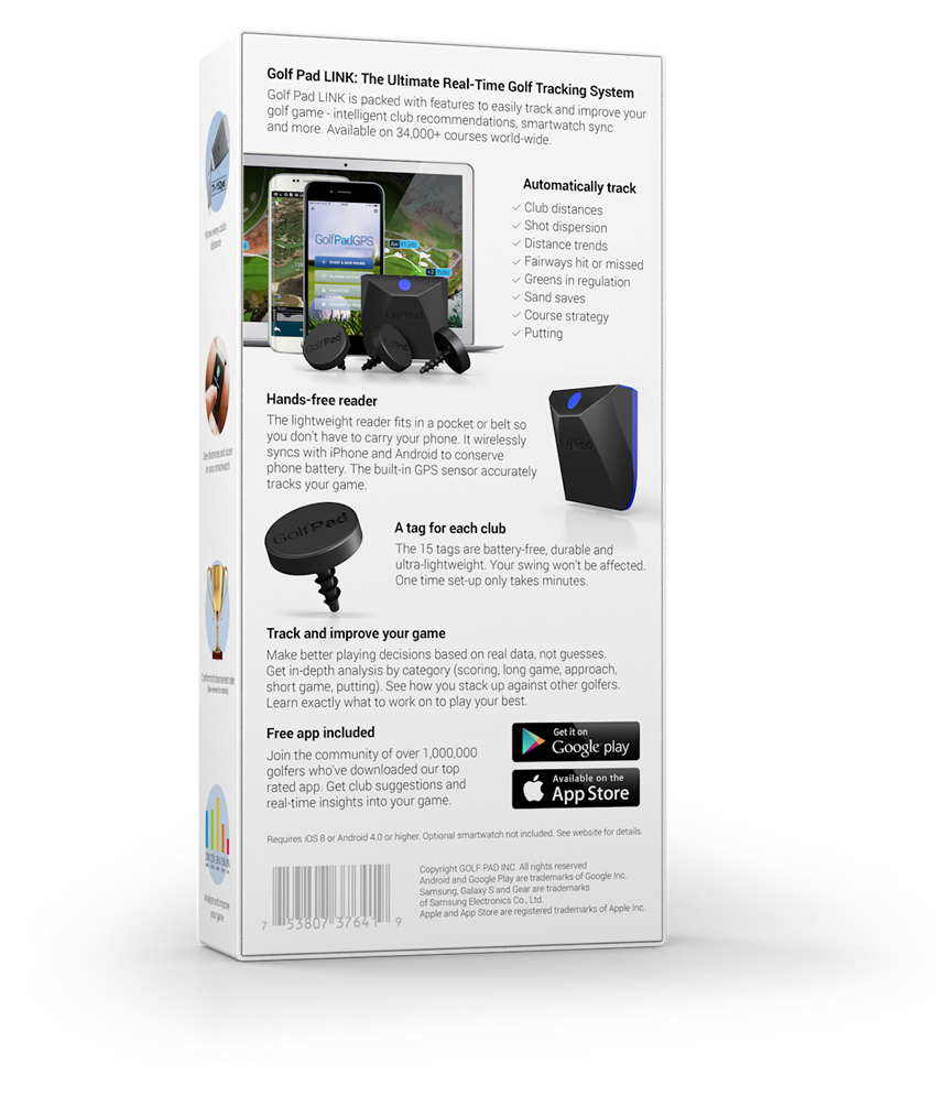 GolfPAD GPS TAGS and LINK