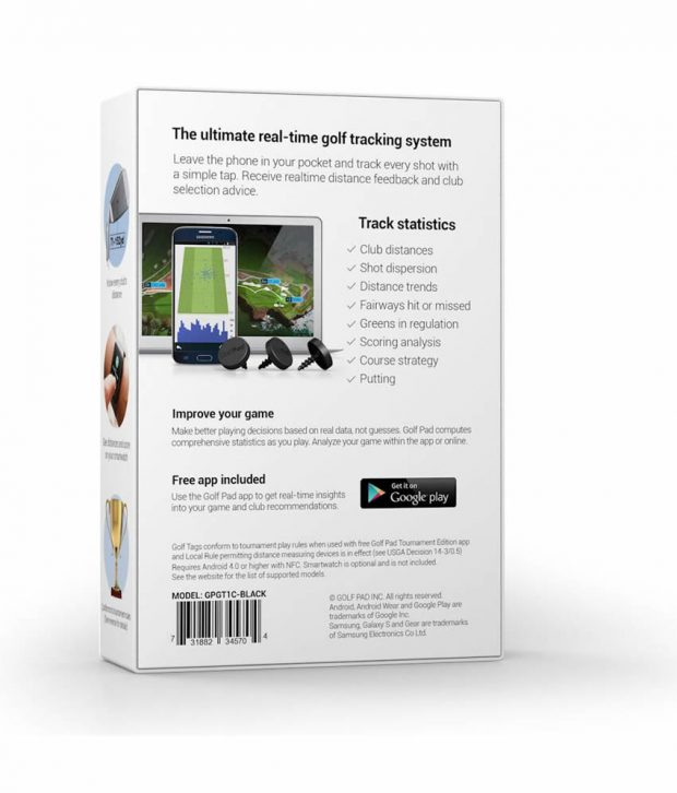 GolfPAD GPS TAGS Black Box
