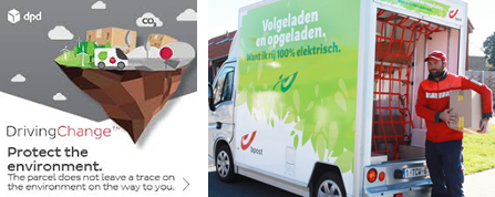 We work with shipping companies who make efforts going green