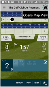 Golf PAD GPS App map view